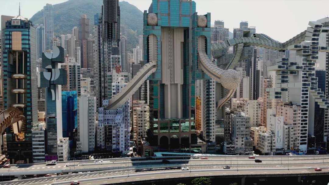 Visioni future di una metropoli dell'artista AUJIK 3