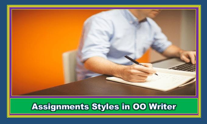 Apply styles in OO Writer