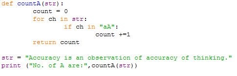 passing string into python function