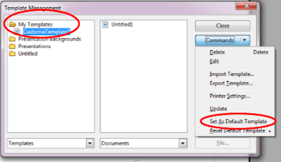 set as default template