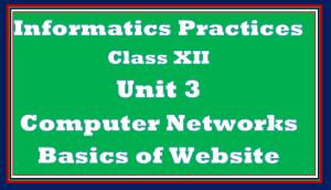 Basics of Website Class 12 IP