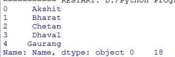 output of select column using dot notation