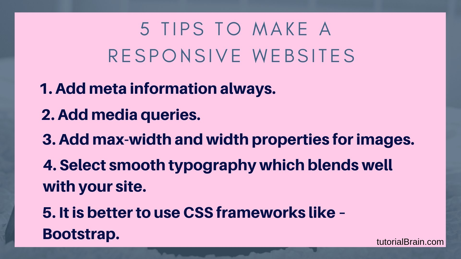 HTML Responsive Web Design Tutorial — TutorialBrain