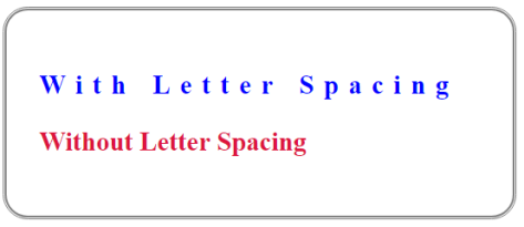 letter spacing in CSS