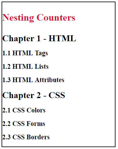 Nesting Counters