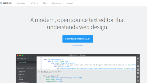 Brackets text editor from Brackets.io