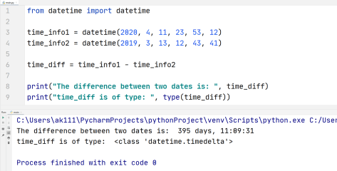 Python difference between dates