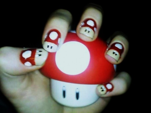 Super Mushroom Nail Art