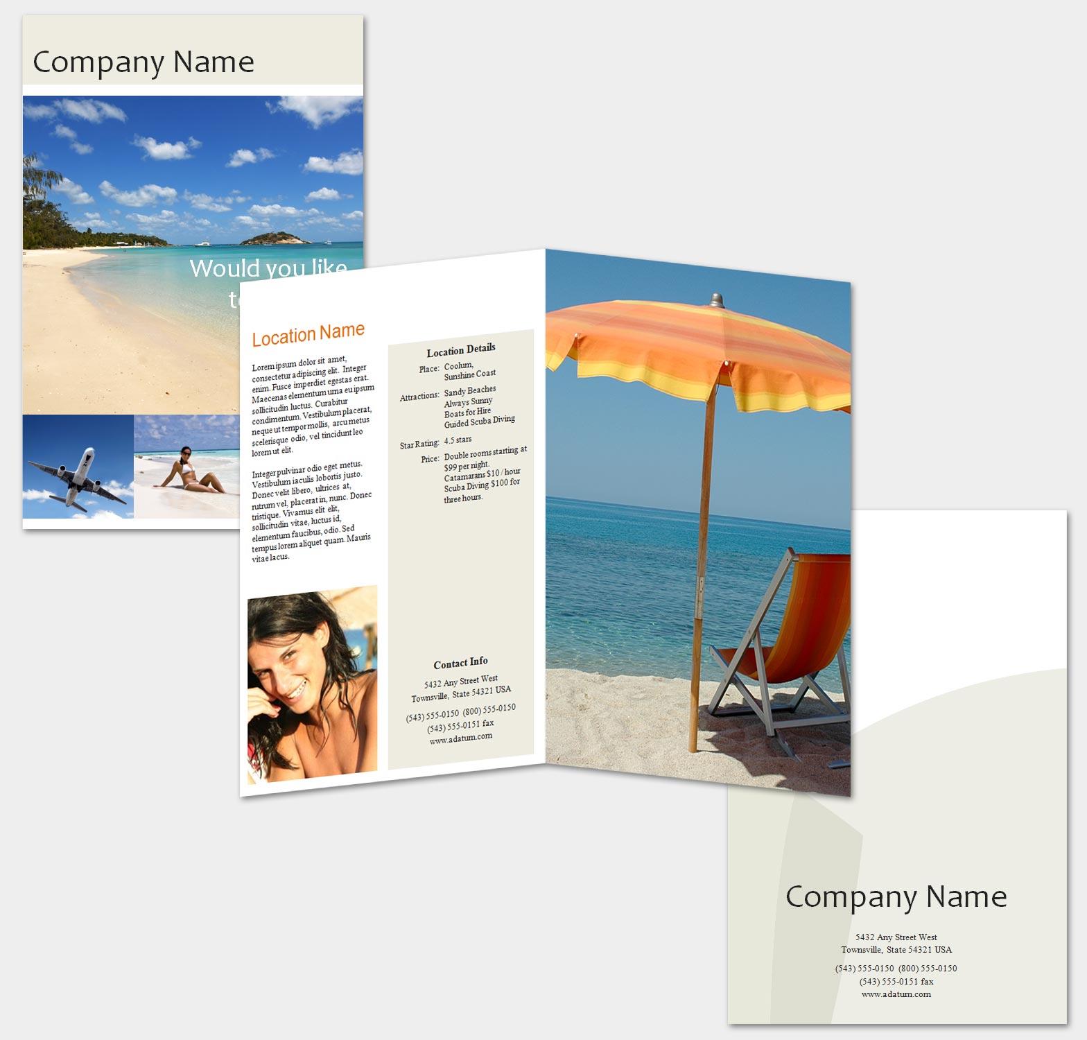 20 Gorgeous Travel Brochures Examples TutorialChip