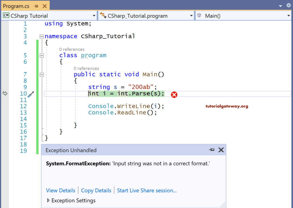 C# Data type Conversion