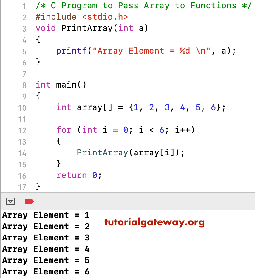 Pass Array to Functions in C   LaptrinhX