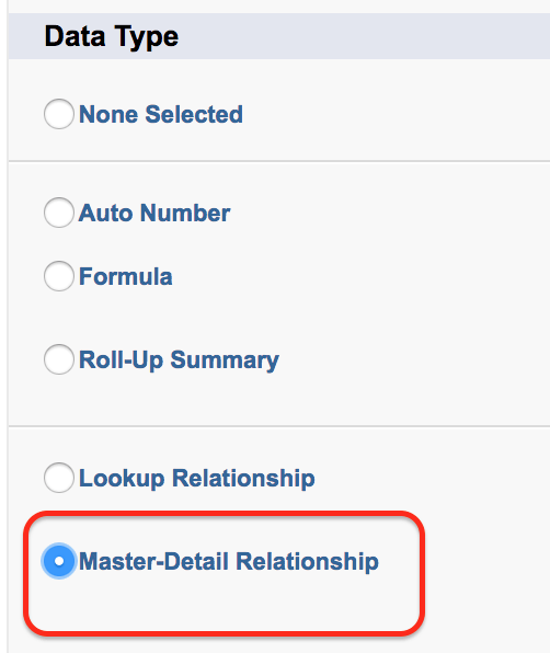 how to change master detail relationship in salesforce logo