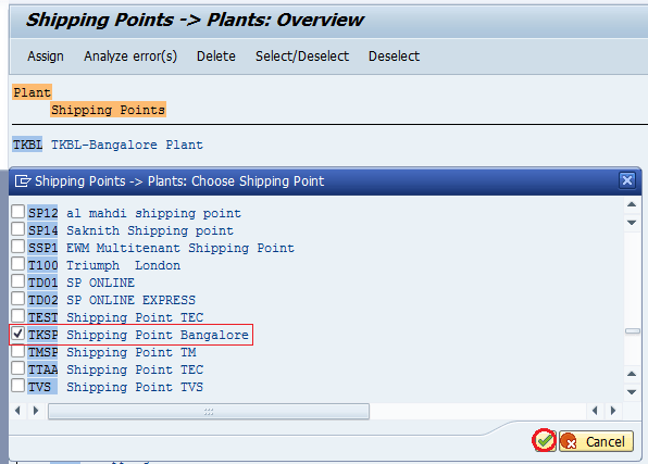 How to Assign Shipping Point to Plant in SAP
