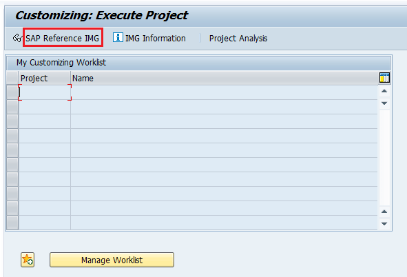 SAP Reference IMG SAP