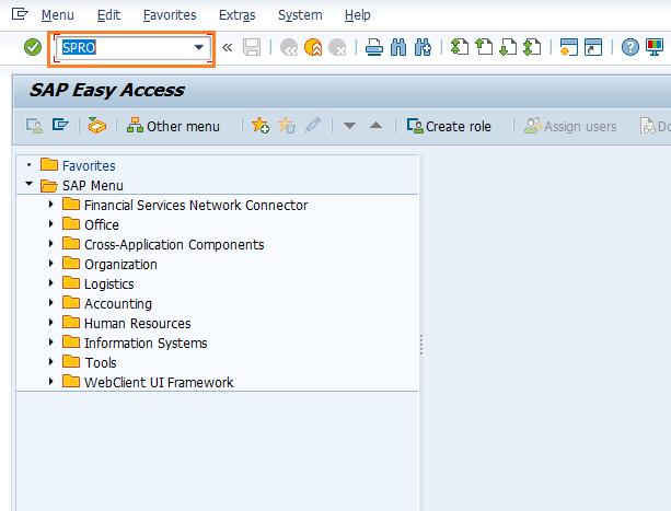 SAP Transaction Code SPRO