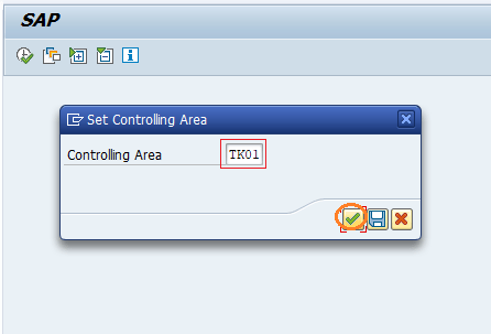 Set controlling area for CO settings