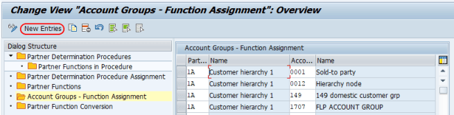 Account groups functions assignment SAP