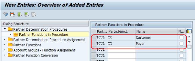 Setup Partner Determination Procedure in SAP SD