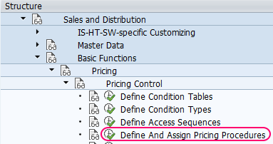 define and assign pricing procedure in SAP