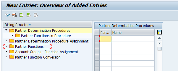 partner functions SAP