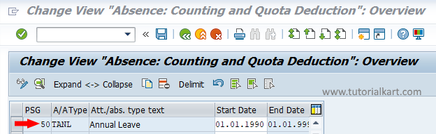 Assign Counting Rules to Absence Types in SAP