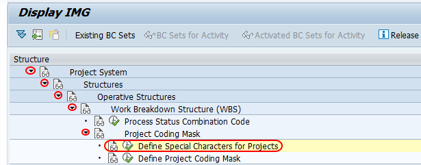 Define Special Characters for Projects path