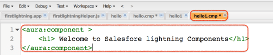how to create salesforce lightning component
