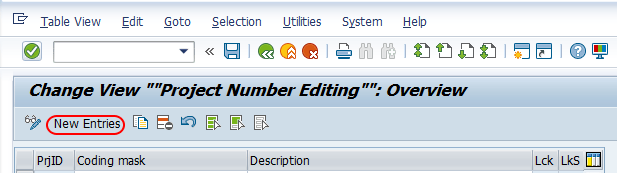 Project number editing SAP