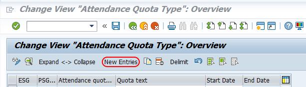attendance quota type SAP