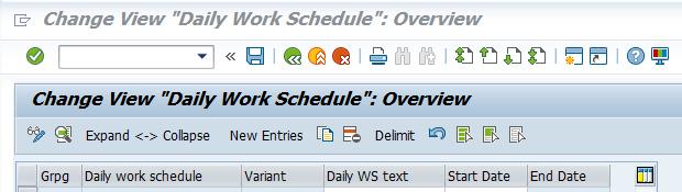 daily working schedule