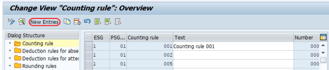 new counting rules SAP