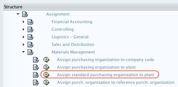 Assign standard purchasing organization to plant SAP