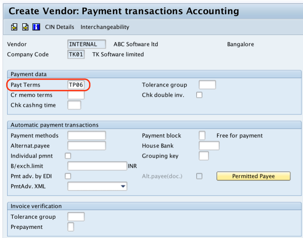 Create vendor payment transactions SAP - tutorialkart