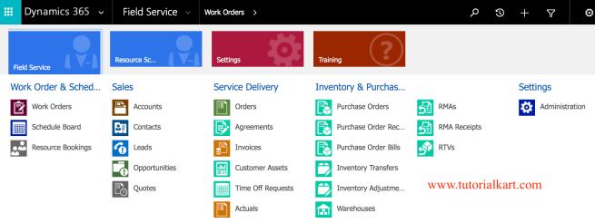Microsoft Dynamics 365 for Field Service.