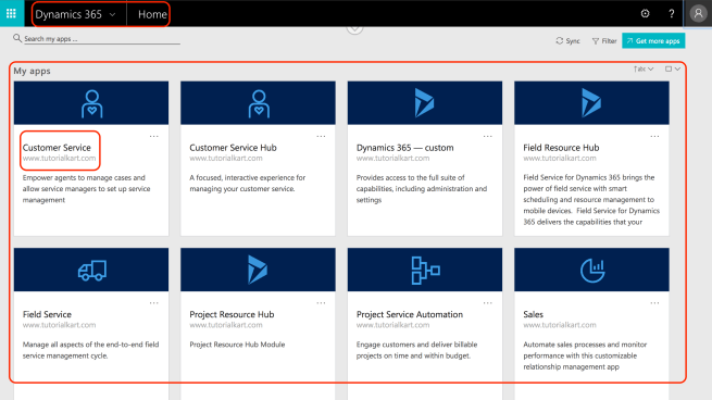 Microsoft Dynamics 365 Navigation