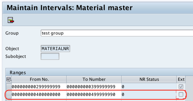 Number Ranges for Material Type in SAP MM