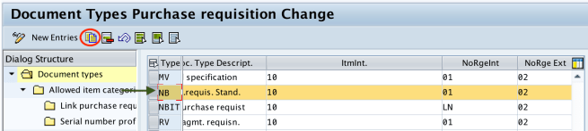 Document types purchase requisition SAP