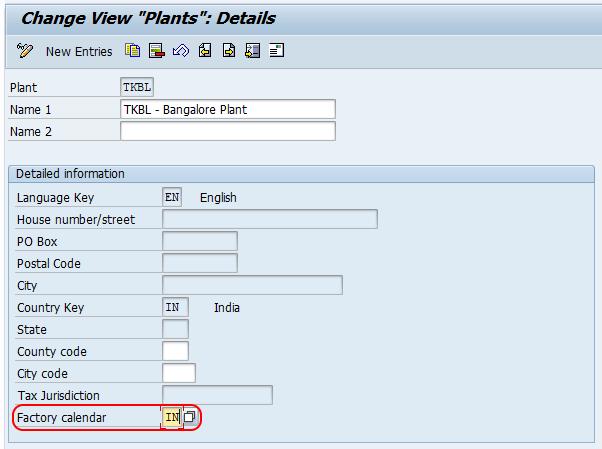 Factory Calendar Sales Organization Sap : Sap pm create factory calendar assign to plant