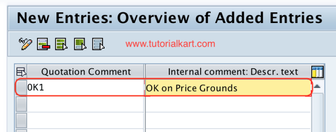 Maintain Quotation Comments SAP