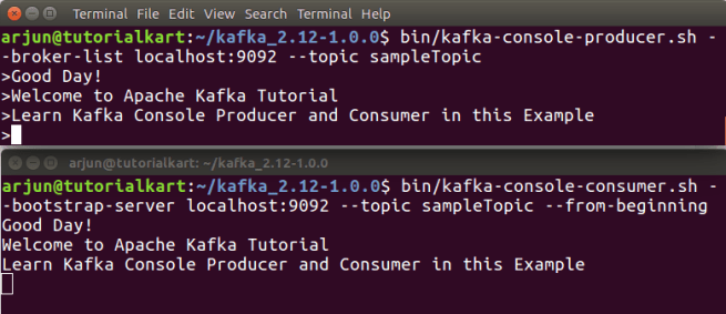 Kafka Console Producer And Consumer Example