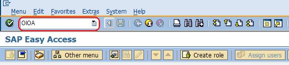 maintenance order type tcode SAP