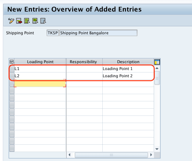 Maintain Loading Point in SAP
