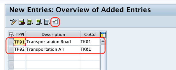 New Transportation Planning Point in SAP