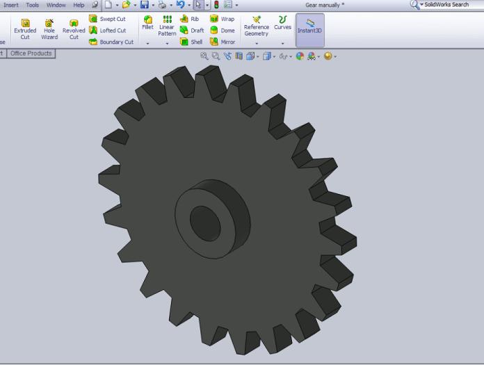 Design Spur Gear in Solidworks