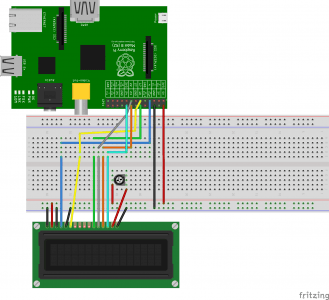 Raspberry Pi LCD Display Connection