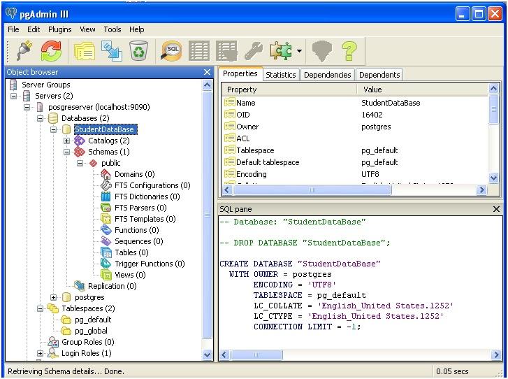 PostGre Admin 3 : Managing Database -Tutorial Savvy