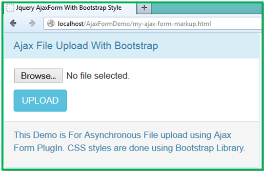 Asynchronous File Upload And Bootstrap Progress Bar - Tutorial
