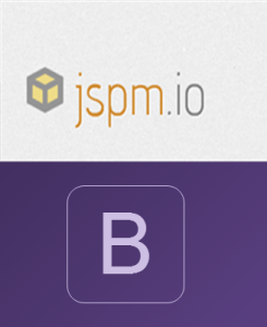 Bootstrap 4 with JSPM