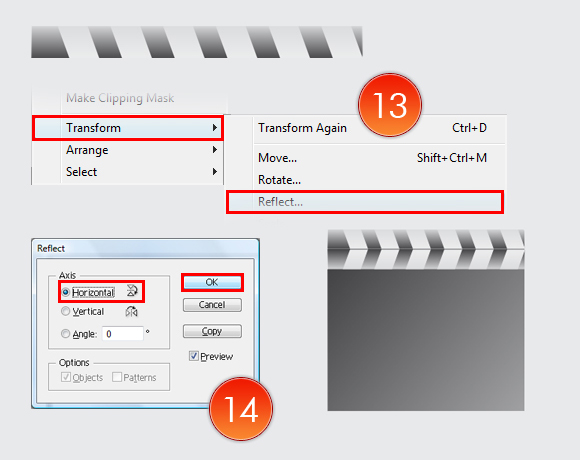 Film Can, Reel and Clapper Board Vector Tutorial in Illustrator CS5 – Part II 31