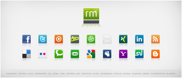 15 Free Social Media Icon Packs - Freebies 39